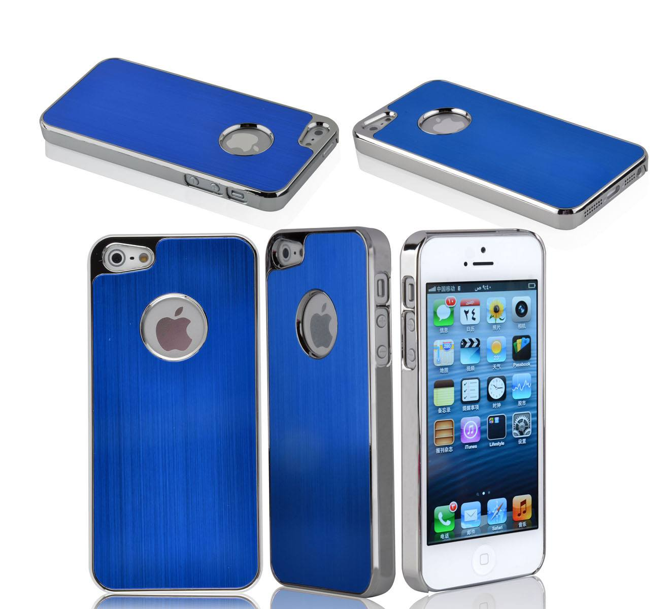 iPhone 5 Premium Brushed Aluminum Case - Blue