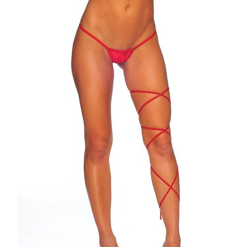 Spaghetti Leg Wrap - Red