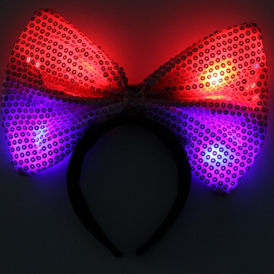 Red Led Headbow
