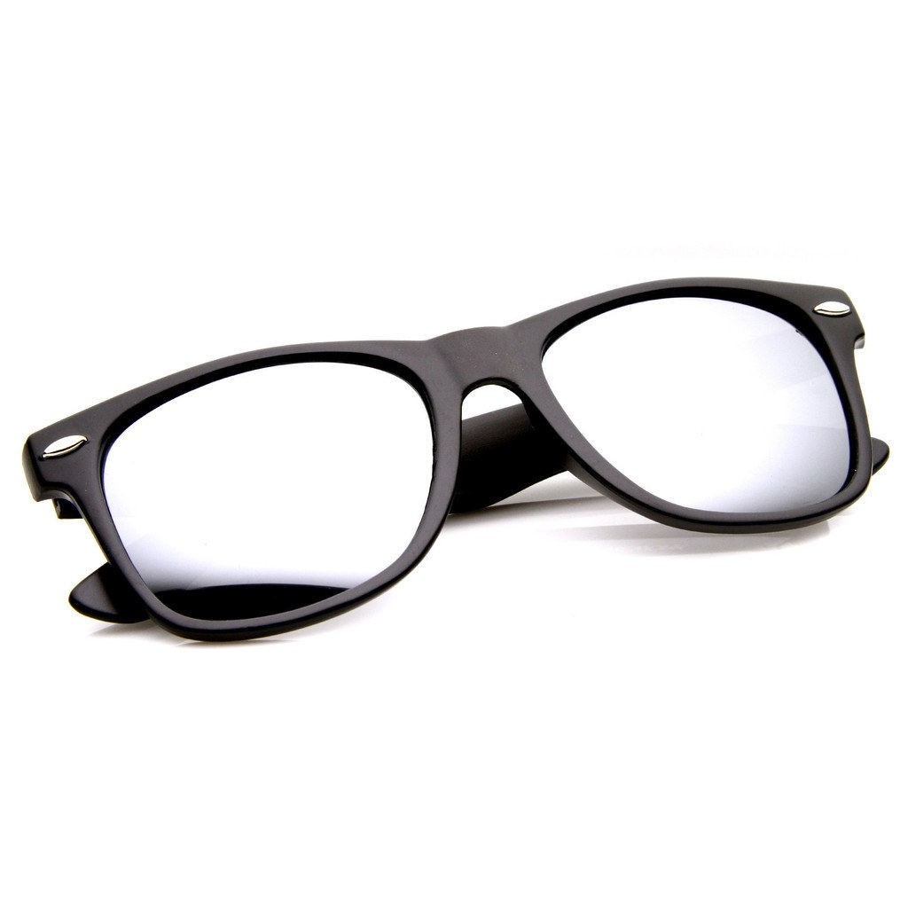 Matte Black Sunglasses - Mirrors