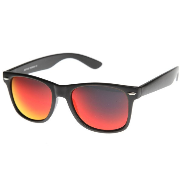 Matte Black Sunglasses - Fire