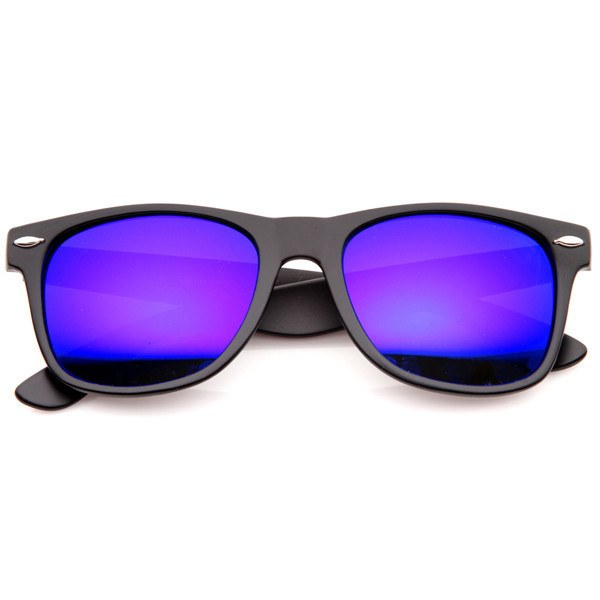 Matte Black Sunglasses - Purple