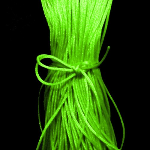 Neon Green Satin Cord 2mm