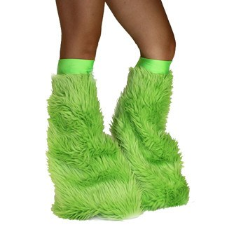 Neon Green Soft Fur Fluffies