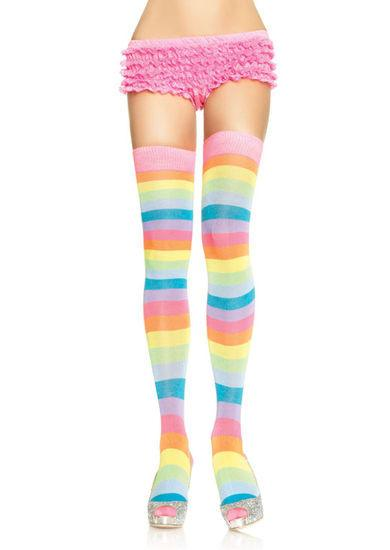 Neon Rainbow Thigh High