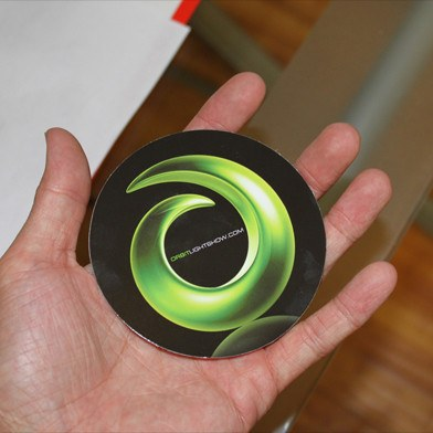 Orbit Circle Sticker