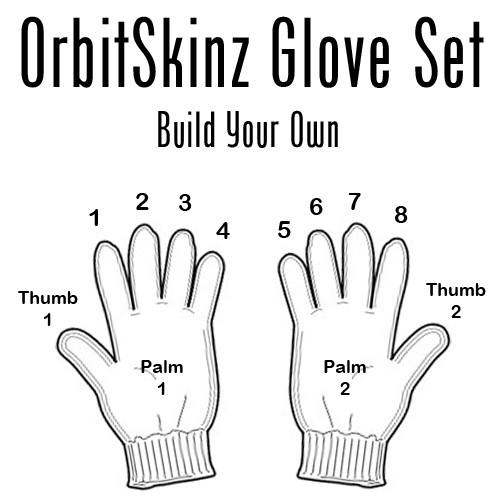 OrbitSkinz Custom Glove Set