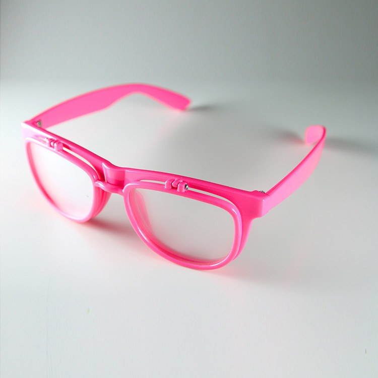 PrismFlipz Diffraction Rave Nerd Glasses - Pink
