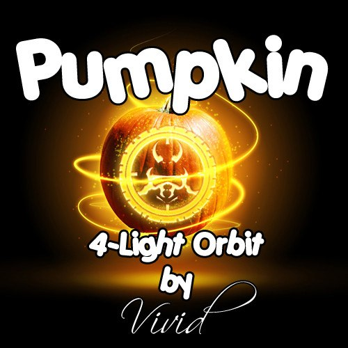 Pumpkin 4-Light LED Orbit