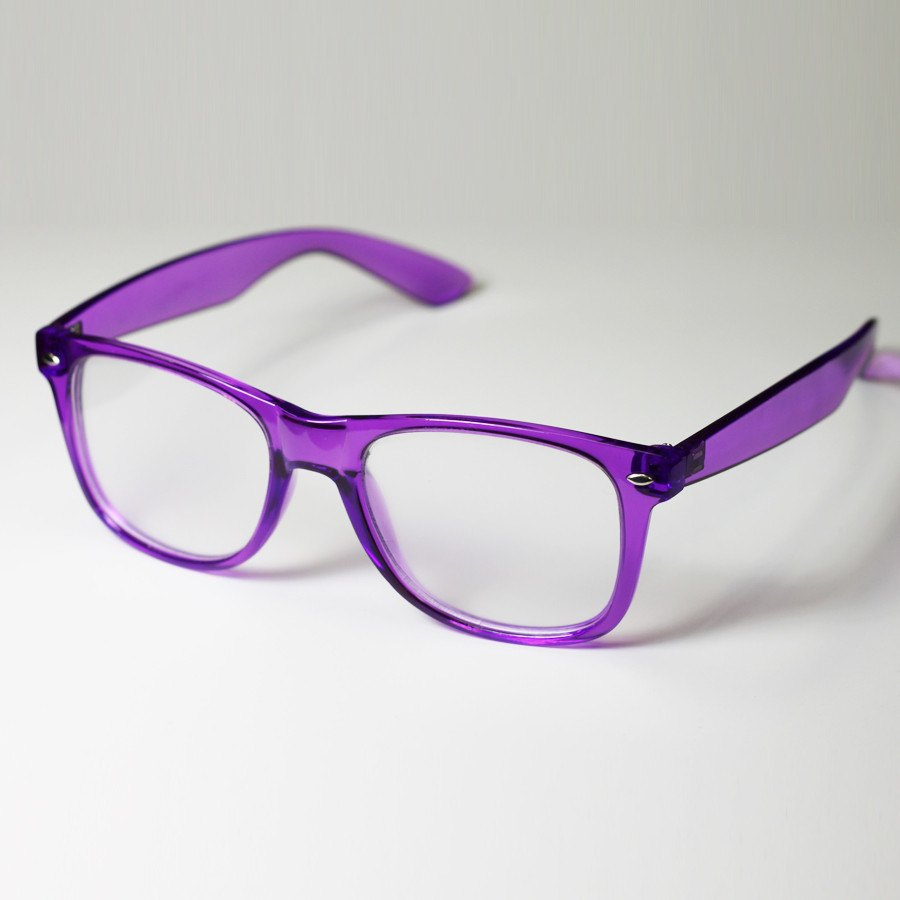 Diffraction Glasses - Purple Transparent