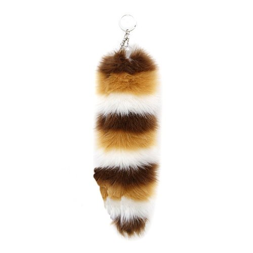 Fox Tail Racoon - Brown and White