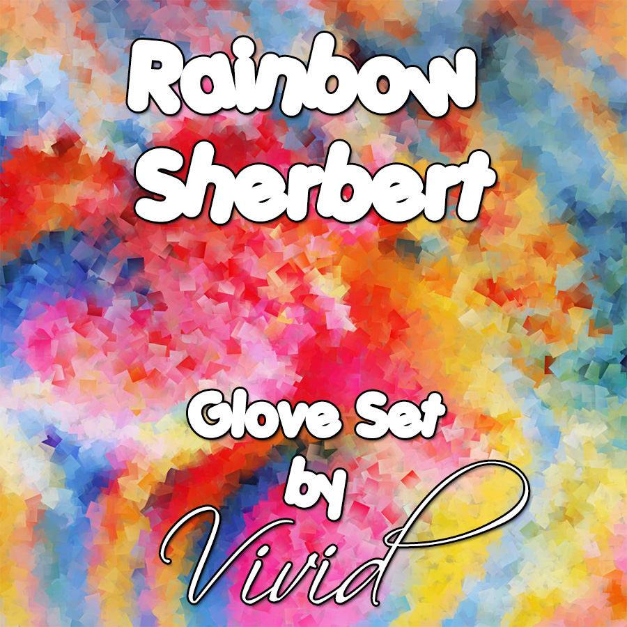 Rainbow Sherbet Glove Set