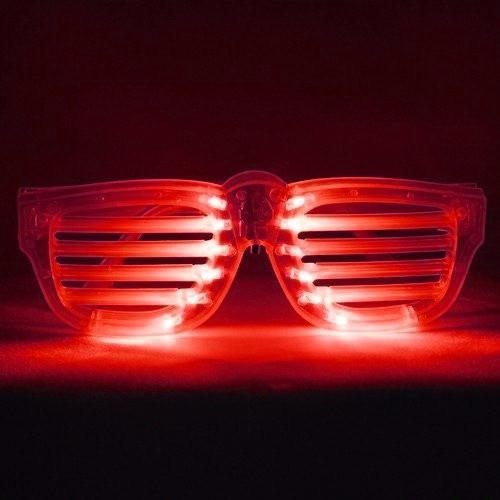 Red LED Rock Star Shutter Sunglasses