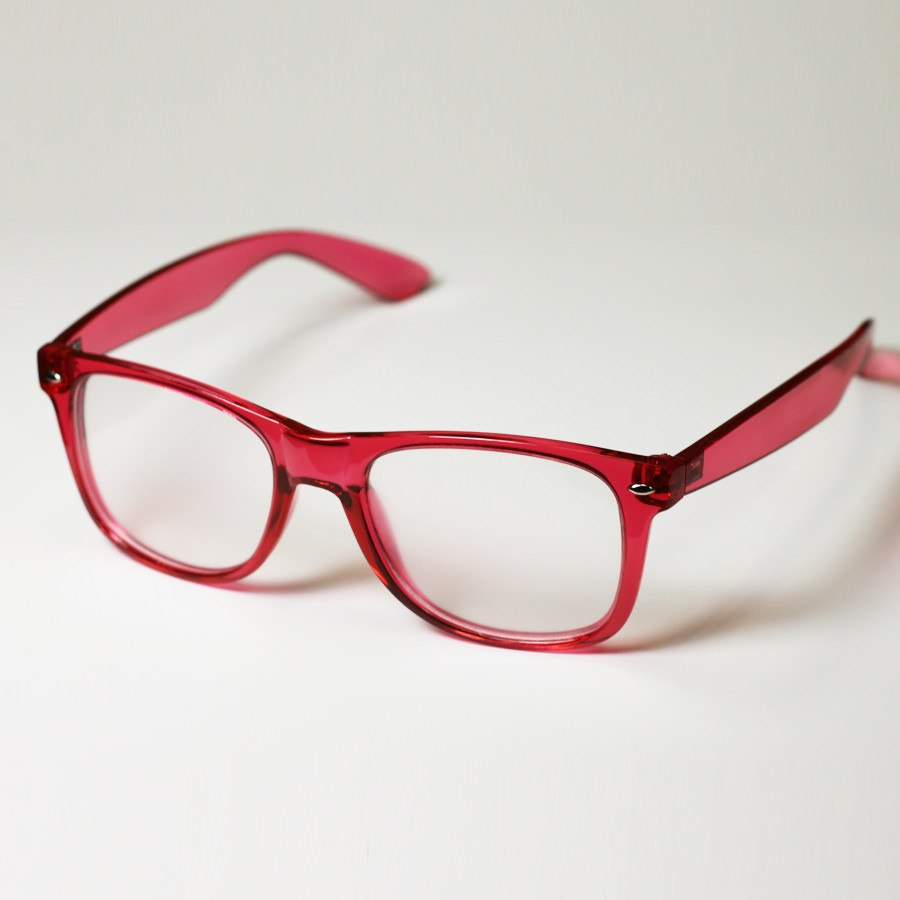 Diffraction Glasses - Red Transparent