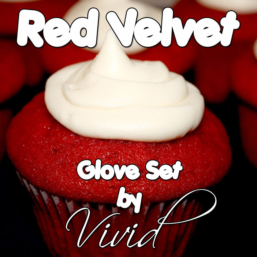 Red Velvet Glove Set