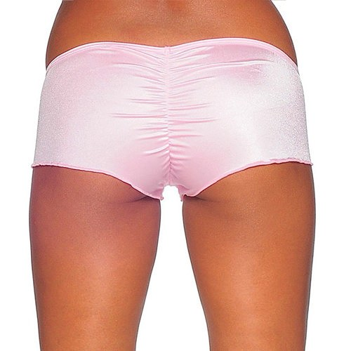Scrunch Back Micro Shorts - Baby Pink