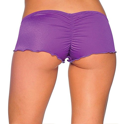Scrunch Back Micro Shorts - Purple