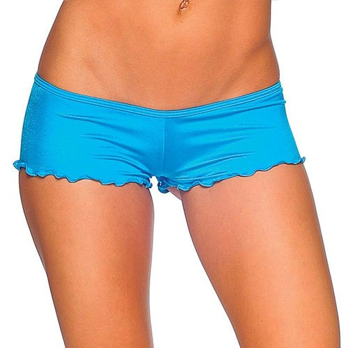 Scrunch Back Micro Shorts - Turquoise