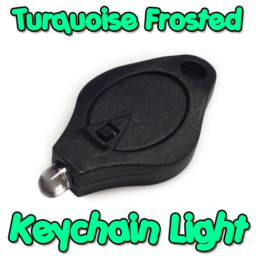 Turquoise Frosted Keychain Light