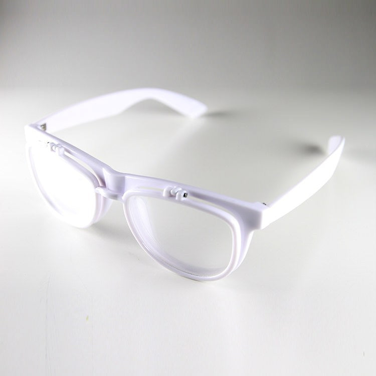 PrismFlipz Diffraction Rave Nerd Glasses - White