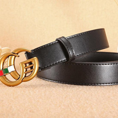 Heysweeta Leather Retro Letters Buckle Belt (Limited sale ended.)
