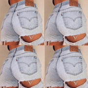 Heysweeta Broken Holes Denim Shorts Hot Pants