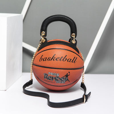 Heysweeta  2020 Fashion Basketball Shape Women Handbag Women Bag