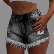 Heysweeta Women Shorts Women Hot Pants Denim Shorts