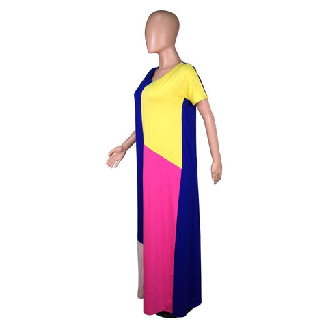 Patchwork Casual Maxi Dress