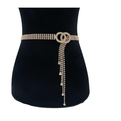Heysweeta Diamonds Decorated Women Belt Women Waist Chain