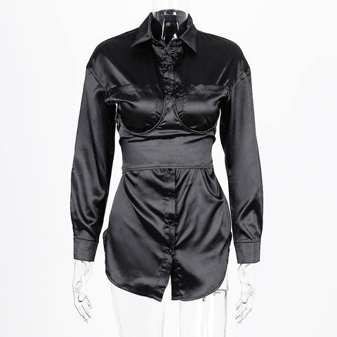 Heysweeta  Women Shirt Dress Womeon Long Shirt Sexy Shirt