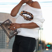 Heysweeta Cheetah Print Lips Women Tops