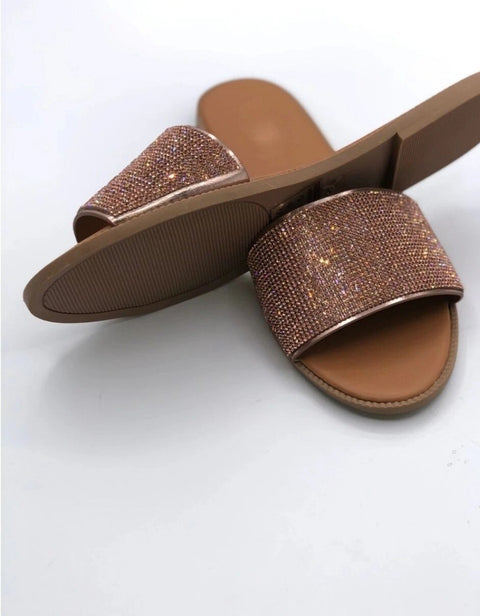 Heysweeta Fashion Rehinestones Docrated Women Slippers