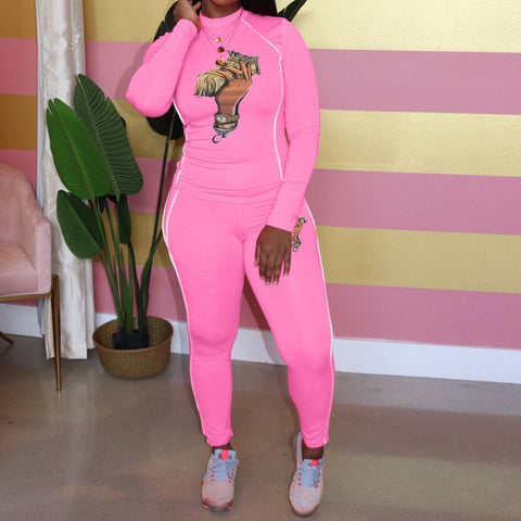Heysweeta Two Pieces Sweatsuit