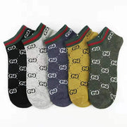 Heysweeta Letters Print Women's Socks Short Socks Men's Socks 【10 pairs of random color】