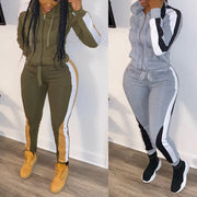 Heysweeta Patchwork Women Sweatsuit