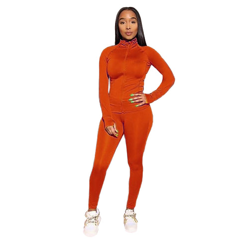 Heysweeta 2020 Wemen Yoga Sweatsuit Autumn Winter Two Pieces Sweatsuit