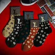 Heysweeta Fashion Printing Autum Winter Women Socks (5 Pairs*2=10 Pairs) (Limited sale ended.)