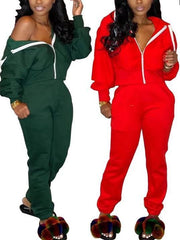 Heysweeta Two Pieces Women Sweatsuit Women Two Pieces Outfit