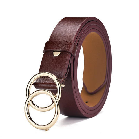 Heysweeta Women Belt Man Belt PU Belt