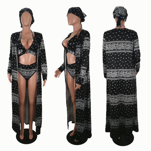 Heysweeta Two Pieces Women Swimsuit and Cover-up Women Vocation Look Holiday Swimwear