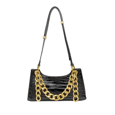 Heysweeta 2020 Croco Lines Women Axillary Bag Women Handbag