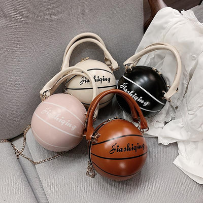 Heysweeta  2020 Fashion Basket ball Shape Women Bag Handbag
