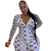 Heysweeta Women Jumspuit At-home Jumpsuit Sexy One Piece At-home suit