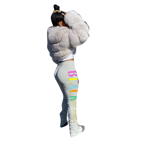 Heysweeta Women Sweat Pants Flare Pants