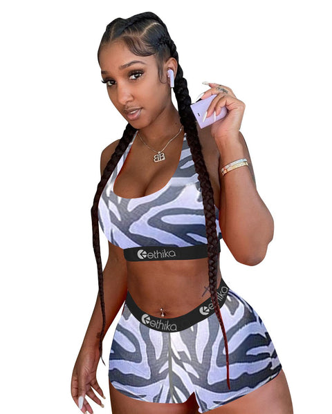 Heysweeta 2020 Women Vest and Shorts Set