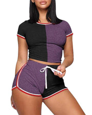 Heysweeta 2020 Women t-shirt and short set At-home Outfit
