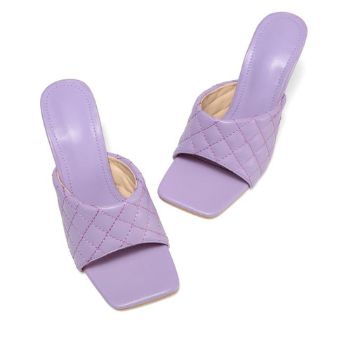 Heysweeta Candy Color Women Sandals High Heels Sandals