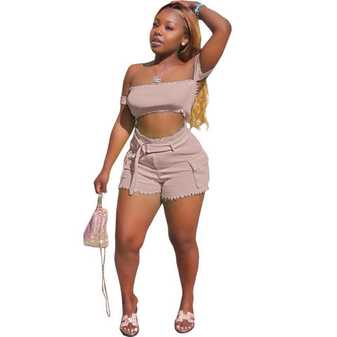 Heysweeta  Crop Tops and Short Women Outfits