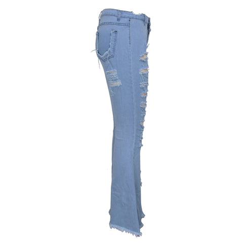 Heysweeta   2020 broken holes women Pants Women Jeans